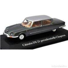 Auto in scala: CITROEN DS21 CHAPRON NIXON CARLES DE GAULLE 1969 PRESIDENCIAL 1:43 NOREV MAL VITRINA. Lote 295732763