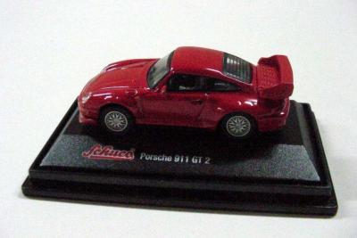 PORSCHE 911 GT 2 ROJO DE SCHUCO (Juguetes - Coches a Escala 1:72)
