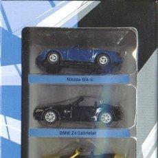Coches a escala: LOTE 5 COCHES CARARAMA A ESTRENAR (MAZDA,BMW Z4,PORSCHE,BMW Z8,MB CLK). Lote 24555184