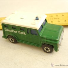 Coches a escala: MATCHBOX ARMORED TRUCK SUPERFAST 1978 MADE IN ENGLAND (DRESDNER BANK). Lote 49450209