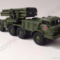 Coches a escala: BM-27 URAGAN HURRICANE USSR - LANZACOHETES MÚLTIPLE AUTOPROPULSADO UNIÓN SOVIÉTICA -1:72 - EAGLEMOSS. Lote 60833291