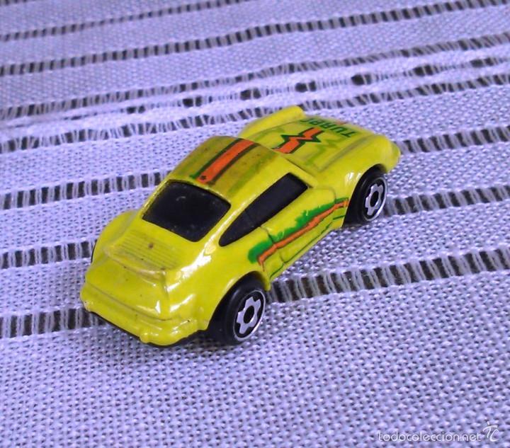 Coches a escala: Porsche 911 Turbo de Hot Wheels a escala 1:72.Chevy Mini Automagic.1974. Mattel. Hotwheels. Metal. - Foto 7 - 61102255