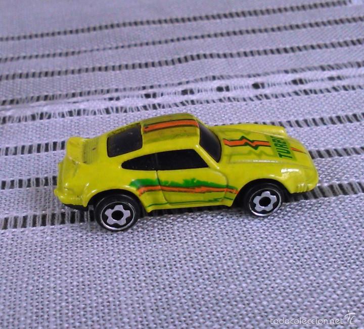 Coches a escala: Porsche 911 Turbo de Hot Wheels a escala 1:72.Chevy Mini Automagic.1974. Mattel. Hotwheels. Metal. - Foto 8 - 61102255