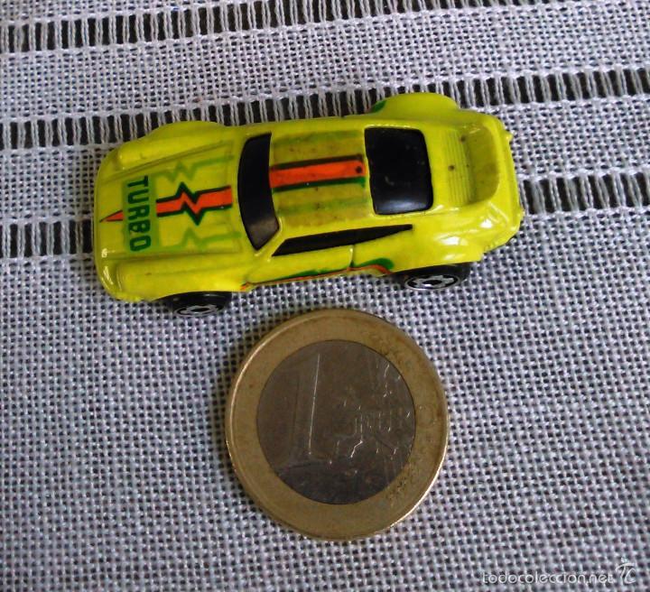 Coches a escala: Porsche 911 Turbo de Hot Wheels a escala 1:72.Chevy Mini Automagic.1974. Mattel. Hotwheels. Metal. - Foto 9 - 61102255