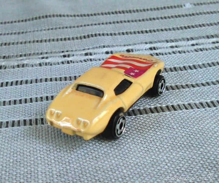Coches a escala: Chevrolet Corvette de Hot Wheels a escala 1:72.Chevy Mini Automagic.1975. Mattel. Hotwheels. Metal. - Foto 4 - 61102947