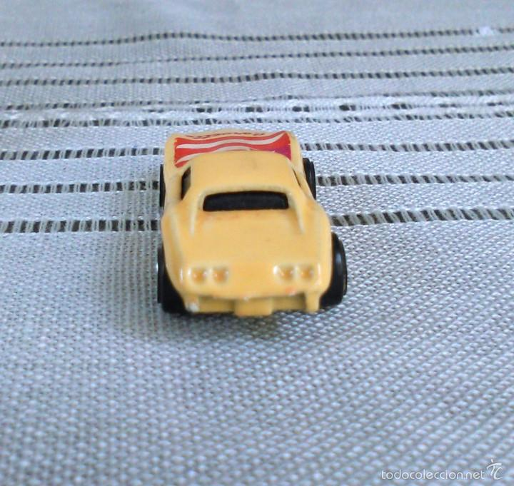 Coches a escala: Chevrolet Corvette de Hot Wheels a escala 1:72.Chevy Mini Automagic.1975. Mattel. Hotwheels. Metal. - Foto 5 - 61102947