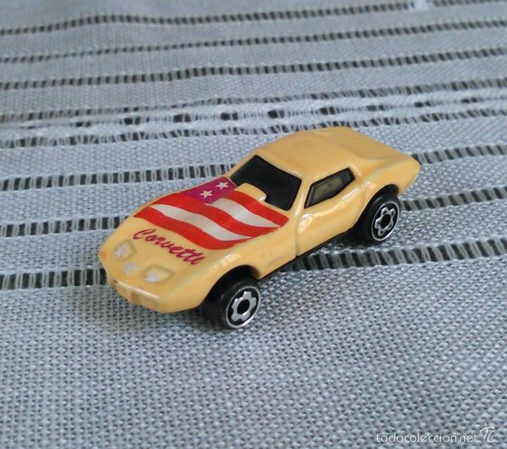 Coches a escala: Chevrolet Corvette de Hot Wheels a escala 1:72.Chevy Mini Automagic.1975. Mattel. Hotwheels. Metal. - Foto 8 - 61102947