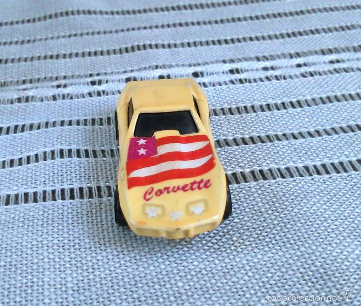Coches a escala: Chevrolet Corvette de Hot Wheels a escala 1:72.Chevy Mini Automagic.1975. Mattel. Hotwheels. Metal. - Foto 9 - 61102947