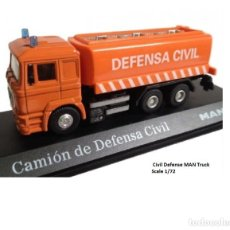 Coches a escala: CAMIÓN MAN DEFENSA CIVIL ESCALA 1/72. Lote 63035600