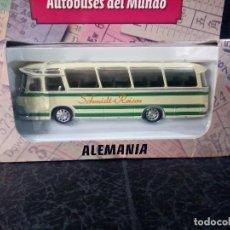 Coches a escala: BUS DE ALEMANIA ESCALA 1/72 AUTOBUSES DEL MUNDO COLOMBIA . Lote 67598241