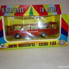 Coches a escala: CAMION MERCEDES MUNDIAL-TOURS DE MIRA. MINIATURAS EN METAL DRAGON DE MIRA. EN CAJA, SIN USO. 1/64. Lote 68995689