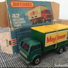 Coches a escala: MATCHBOX MERCEDES CONTANIER TRUCK. Lote 98622427