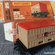 Coches a escala: MATCHBOX FLAT CAR CONTAINER. Lote 98632915