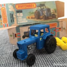 Coches a escala: MATCHBOX FORD TRACTOR & HARROW. Lote 98634139
