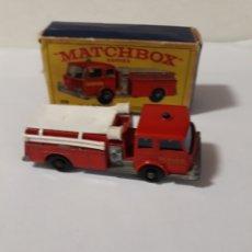 Coches a escala: MATCHBOX CAMION BOMBEROS FIRE PUMPER TRUCK EN CAJA. Lote 104030562