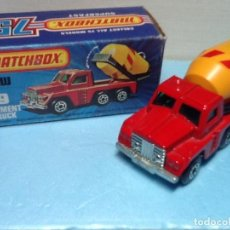 Coches a escala: MATCHBOX SUPERFAST N.19 CON CAJA. CEMENT TRUCK. Lote 107267847