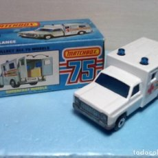 Coches a escala: MATCHBOX SUPERFAST N.41 CON CAJA. AMBULANCE. Lote 107267899
