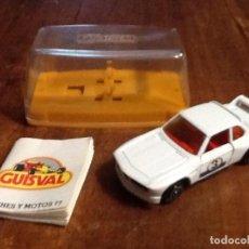 Coches a escala: GUISVAL BMW 3,3 CSL CON CAJA Y CATÁLOGO CAMPEÓN 1977. Lote 112728583