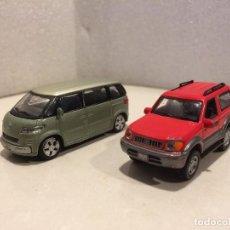 Coches a escala: HONGWELL 1/72 - VW MICROBUS Y TOYOTA LAND CRUISER. Lote 117222875