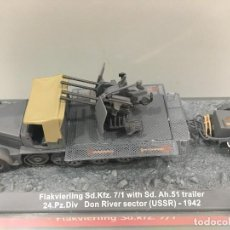 Coches a escala: CARRO DE COMBATE FLAKVIERLING SD. KFZ 7/1 WHIT SD. AH. 51 TRAILER 24. PZ. DIV DON RIVER SECTOR (USSR. Lote 233259560