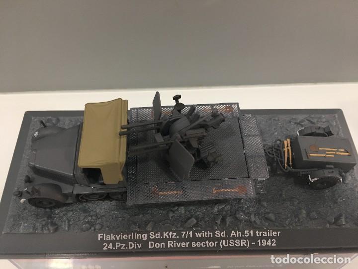 Coches a escala: Carro de combate flakvierling sd. kfz 7/1 whit sd. ah. 51 trailer 24. pz. div don river sector (ussr - Foto 5 - 155339013