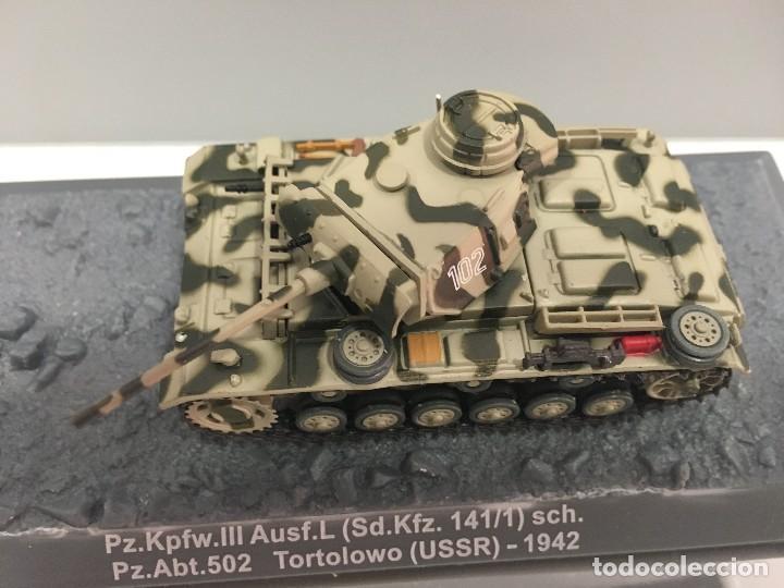 Coches a escala: Carro de combate pz. kpfw. iii ausf. l (sd. kfz. 141/1) sch. pz. abt. 502 tortolowo (ussr)-1942 - Foto 2 - 287753378