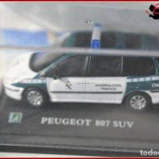 Coches a escala: TX 384 COCHES ESCALA 1:72 - HONGWELL - FURGONETA PEUGEOT 807 SUV GUARDIA CIVIL CIVIL. Lote 121265751