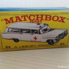 Coches a escala: ANTIGUO COCHE DE MATCHBOX EN CAJA Nº 54 CADILLAC AMBULANCE . Lote 138978694