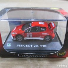 Coches a escala: ANTIGUO COCHE DE METAL 1/72 CARARAMA. PEUGEOT 206 WRC. CON CAJA. 6 CM. VER FOTOS. . Lote 139271158