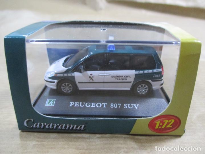 ANTIGUO COCHE DE METAL 1/72. ABG. CARARAMA. PEUGEOT 807 SUV. GUARDIA CIVIL. CON CAJA. 6 CM. (Juguetes - Coches a Escala 1:72)