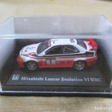 Coches a escala: ANTIGUO COCHE DE METAL 1/72 MITSUBISHI LANCER EVOLUTION VI WRC. 6 CM. CON CAJA. VER FOTOS. . Lote 139274442