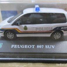 Coches a escala: ANTIGUO COCHE DE METAL 1/72. PEUGEOT 807 SUV. POLICÍA NACIONAL. CON CAJA. 6 CM. VER FOTOS. . Lote 139276882