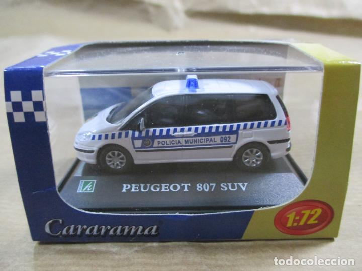 ANTIGUO COCHE DE METAL 1/72 CARARAMA. ABG. PEUGEOT 807 SUV. POLICÍA MUNICIPAL. CON CAJA. 6 CM. (Juguetes - Coches a Escala 1:72)