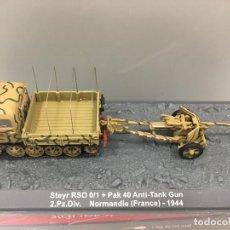 Coches a escala: CARRO DE COMBATE STEIR RSO 0/1 + PAK 40 ANTI-TANK GUN 2. PZ. DIV. NORMANDIE (FRANCE)-1944. Lote 166767596