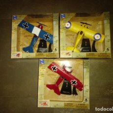 Coches a escala: SET NEW RAY CLASSIC PLANES FOKKER DR1 FOKKER DVII SPAD S,VII. NUEVOS . NEWS. Lote 171156243