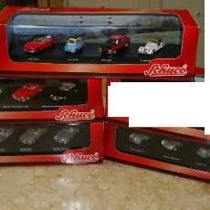 Coches a escala: SCHUCO - 4 PACKS DE 4 COCHES C/U - MERCEDES, PORSCHE, BMW,... 1:87 H0. Lote 171969815