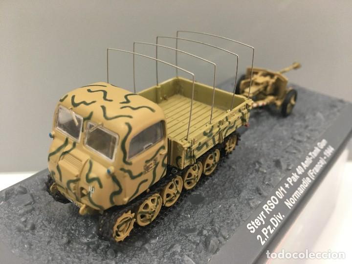 Coches a escala: Carro de combate steir rso 0/1 + pak 40 anti-tank gun 2. pz. div. normandie (france)-1944 - Foto 2 - 233259485