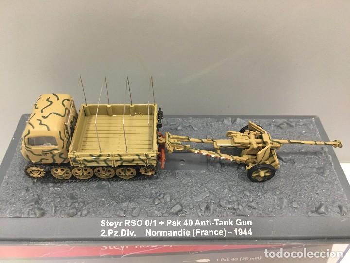 CARRO DE COMBATE STEIR RSO 0/1 + PAK 40 ANTI-TANK GUN 2. PZ. DIV. NORMANDIE (FRANCE)-1944 (Juguetes - Coches a Escala 1:72)
