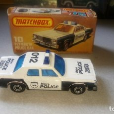 Coches a escala: MATCHBOX--PLYMOUTH POLICE CAR-SUPERFAST. Lote 175556702