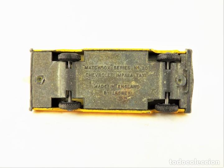 Coches a escala: Matchbox nº 20 Chevrolet Impala Taxi 1/70 - Foto 5 - 177741289