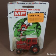 Coches a escala: MIRA ERTL TRACTOR AGRICOLA MASSEY FERGUSON EN METAL MADE IN USA 1970S MATCHBOX. Lote 182810516