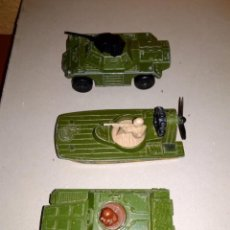 Coches a escala: MATCHBOX 3X VEHICULOS MILITARES 3 INCHES 1:64 SUPERFAST STOUT, SWAMP RAT, BADGER. Lote 57259423