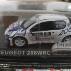 Coches a escala: BLISTER EXPOSITOR COCHE RALLY RALLYE PEUGEOT 206 WRC VER FOTO. Lote 218545268
