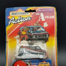 Coches a escala: MATCHBOX ACTION THE A TEAM 1986 - EL EQUIPO A - MADE IN MACAO AND ENGLAND - DIFICIL. Lote 239374865
