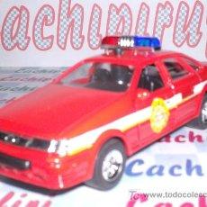 Coches a escala: COCHE JEFE BOMBEROS LUCES EN EL TECHO 4 SIRENAS DE METAL MIDE 12 CM. ABREPUERTAS. Lote 27142968