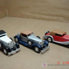 Coches a escala: LOTE 3 COCHES EPOCA GUISVAL MADE IN SPAIN AÑOS 80S. Lote 104006070