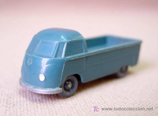 VW VOLKSWAGEN, PRITSCHE, FURGONETA, H0, PLÁSTICO ESC 1/87, WIKING UNVERGLASTE, # 290/1, 1950 (Juguetes - Coches a Escala Otras Escalas )