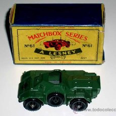 Coches a escala: TANQUETA FERRET ARMY SCOUT, 5,5 CMS, METAL, MATCHBOX , AÑOS 60. EXCELENTE. Lote 27259009