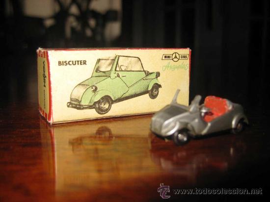 Coches a escala: Antiguo Coche BISCUTER VOISIN - Anguplas Minicars - con su caja original - Mini Cars - Minicar - Min - Foto 2 - 20855652