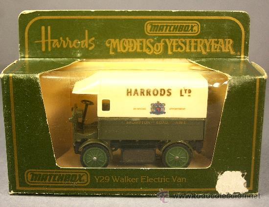 Coches a escala: WALKER ELECTRIC VAN 1919 HARRODS - Y29 - Antiguo MATCHBOX Yesteryear 1984 M.England - NUEVO en CAJA - Foto 3 - 26767763